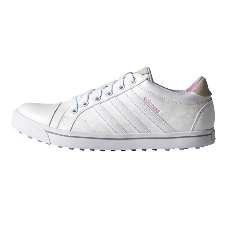 soulier w Adidas adicross IV blanc et rose