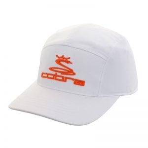 Casquette Cobra blanche orange