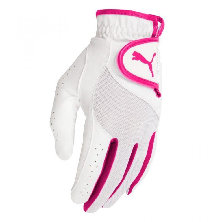 Gant Femme Synthétique puma blanc et rose