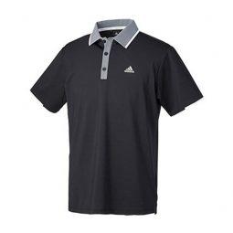 Polo Adidas Noir Collet gris