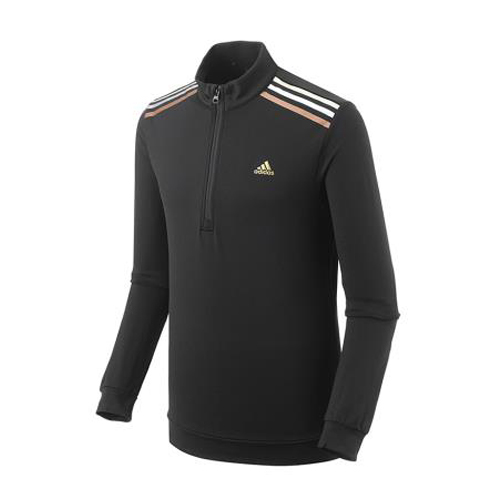 Adidas 1/4 zip noir 3 lignes