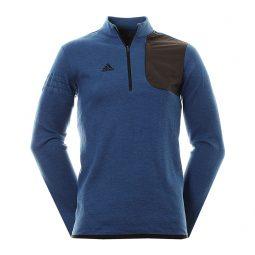 Adidas 1/4 zip coton bleu