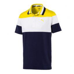 Polo_puma_577881-02 2019 Marine blanc et jaune