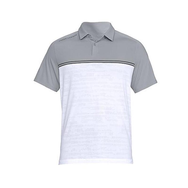 Polo Under Armour 1317330 Gris & Blanc