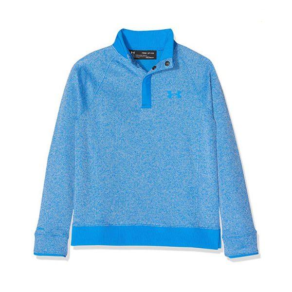 Quart Zip UA 1317372-436 Bleu Junior