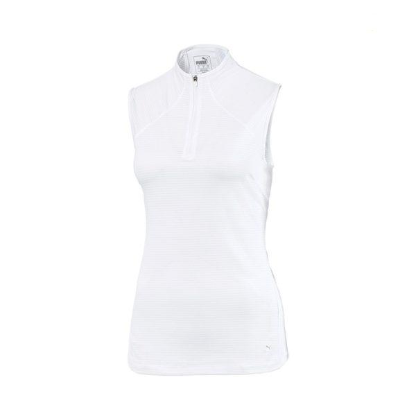 Polo W Puma 595829-08 Blanc Sans manches femme